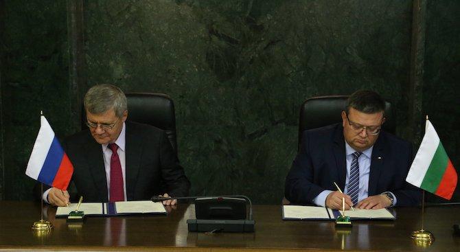Сотир Цацаров се срещна с генералния прокурор на Руската федерация Юрий Чайка