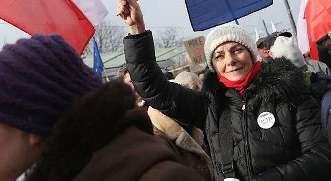 Хиляди полякини излязоха на протест в подкрепа на правата на жените