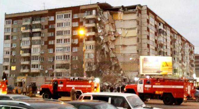 Жител на рухналата сграда в Ижевск бе обвинен в предумишлено убийство