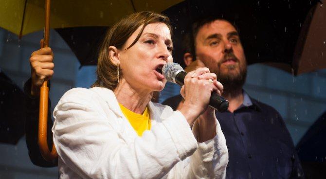 Платена е гаранцията на бившия председател на каталунския парламент, очаква се освобождаването й