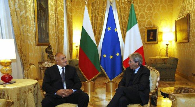 Борисов се срещна с италианския премиер в Рим (видео+снимки)
