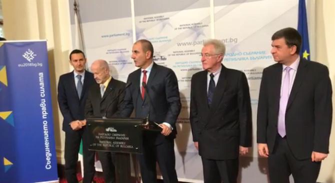 Цветан Цветанов се срещна с председателя на Комисията за контрол на специалните служби на Баварския