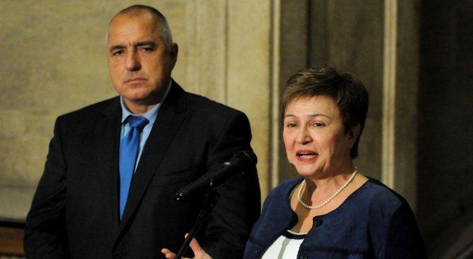 Бойко Борисов представя приоритетите за свързаността на Западните Балкани пред Кристалина Георгиева