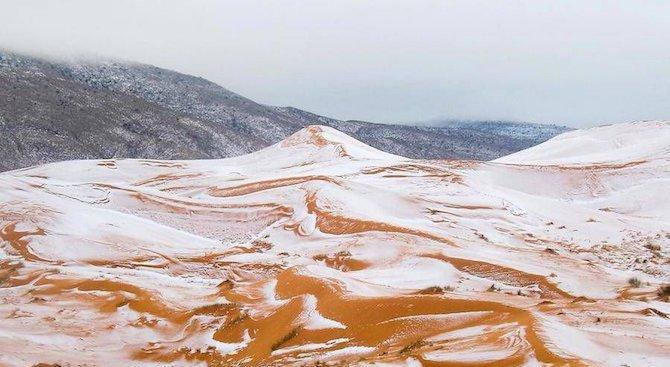 Снеговалежите в Сахара свидетелстват за глобално затопляне