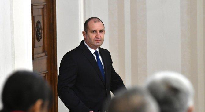 Румен Радев изпрати съболезнователен адрес до Владимир Путин
