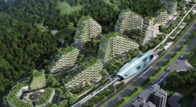 В Китай ще строят първия град-гора в света