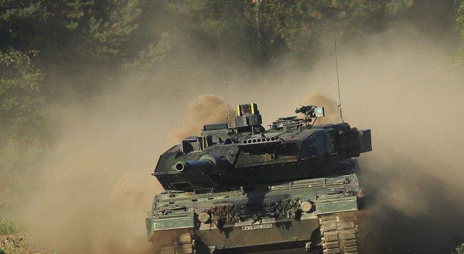 Дрон на САЩ унищожи танк на армията на Сирия при самозащита