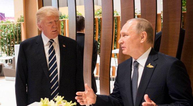 Путин обсъди близкоизточния процес по телефона с Тръмп