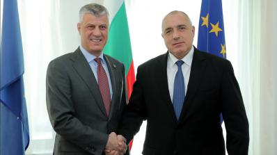 Бойко Борисов разговаря с президента на Косово Хашим Тачи