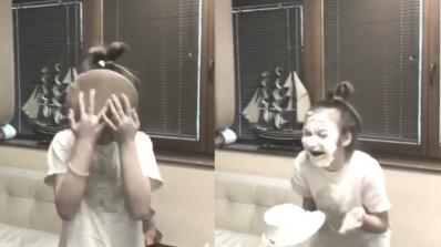 Крисия се размаза в торта (видео)