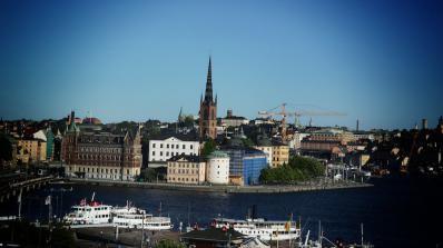 Син полов орган украси сграда в центъра на Стокхолм (снимка+видео 18+)