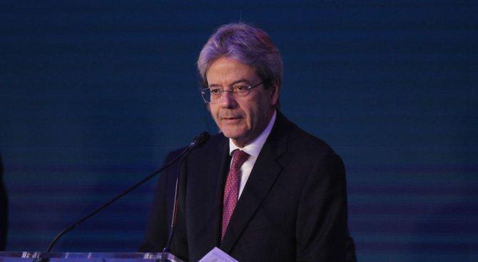 В реч пред новия парламент на Италия премиерът Паоло Джентилони подкрепи ударите на Запада по Сирия