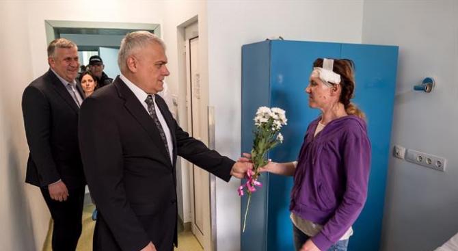 Валентин Радев посети полицай Гергана Зашева (галерия)