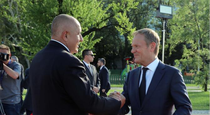 Бойко Борисов се срещна с Доналд Туск (снимки)