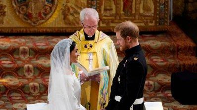 Принц Хари и Меган Маркъл се врекоха във вечна вярност (обновена+видео+галерия)