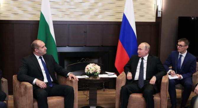 Радев е подновил поканата си към Владимир Путин да посети България