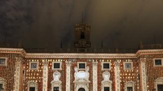 Българските букви осветиха центъра на Рим (снимки)