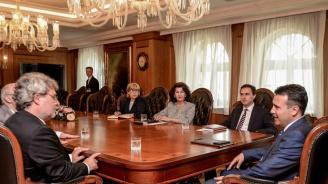 Боил Банов се срещна със Зоран Заев в Скопие (снимка)