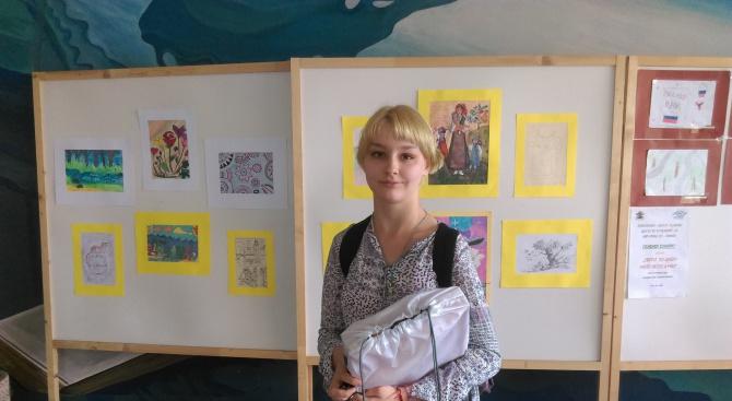Талантливата осмокласничка Алис Дулчич победи с красива рисунка в конкурса