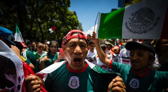 Фенове предизвикаха земетресение в Мексико