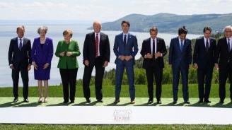 Тръмп подхвърлил бонбони на Меркел на срещата на Г-7 и ѝ казал: Да не казваш, че не съм те почерпил (видео)