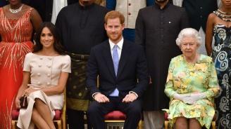 Принц Хари и херцогиня Меган на прием в Бъкингамския дворец (снимки)