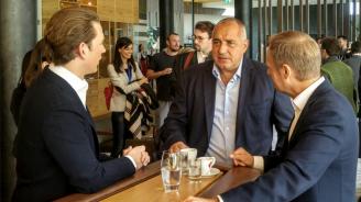Бойко Борисов проведе среща със Себастиан Курц и Доналд Туск (видео)