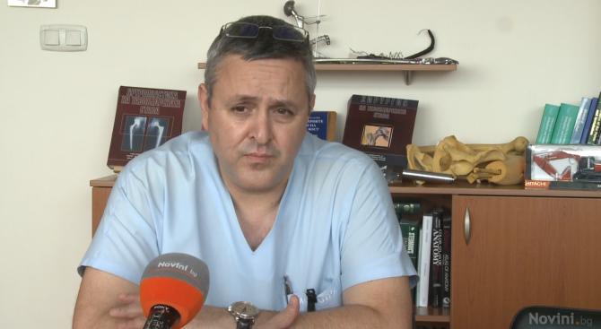 Доц. д-р Неделчо Цачев, началник на Катедра по ортопедия, травматология