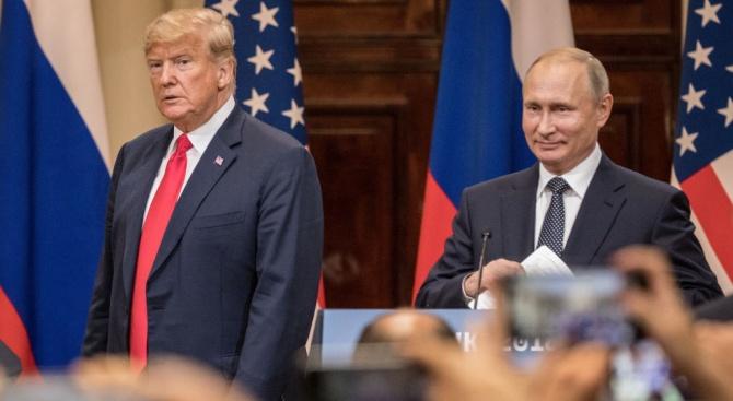 Президентът на САЩ Доналд Тръмп и руският му колега Владимир
