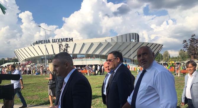 Премиерът Бойко Борисов е в Шумен, за да открие многофункционалната