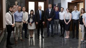 Президентът се срещна със студенти от СУ