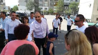Цветанов откри обновени улици и междублокови пространства в Казанлък (галерия)