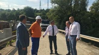 Министър Нанков и Цветанов провериха ремонта на пътя Велико Търново – Арбанаси - Горна Оряховица
