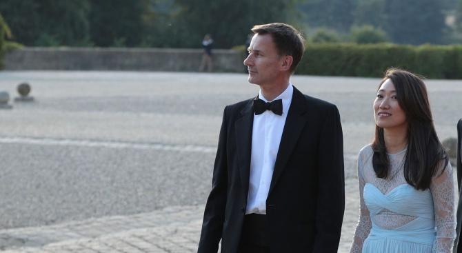 Новият британски външен министър Джереми Хънт днес направи гаф в