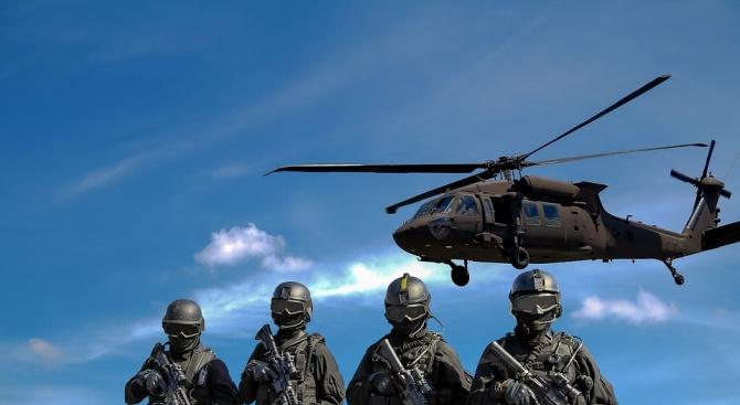 """Мащабно военно учение с наименованието """"Платинум лайън"""" започна на полигона"""