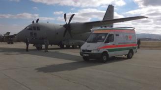 """Самолет """"Спартан"""" на ВВС транспортира медицински екипи за донорска ситуация"""