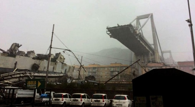 Огромната трагедия в Генуа, предзвикана от срутването на мост, който