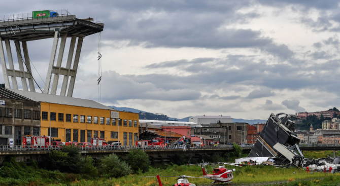 Южният италиански град Беневенто затвори за движение един от мостовете