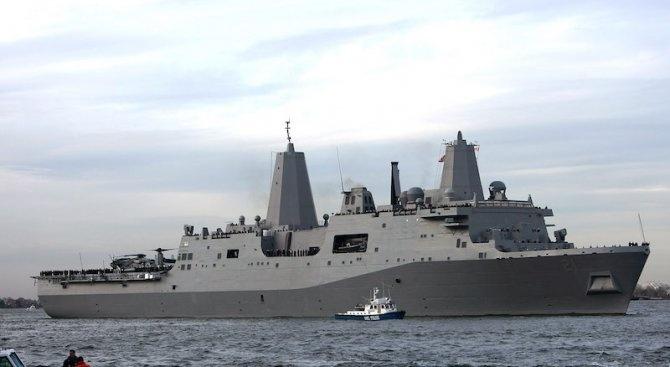 """Американският бързоходен десантен кораб """"Карсън Сити"""" е преминал в сряда"""