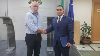 Изпълнителният председател на БСК Радосвет Радев се срещна с министъра на икономиката Емил Караниколов