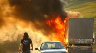 Камион горя на пътя Ветрино - Провадия