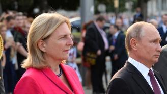 Сватбарят Путин запали жежка словесна битка в Австрия