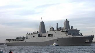 Бързоходен десантен кораб на САЩ премина през Черно море