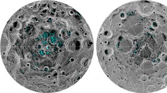 НАСА откри воден лед на повърхността на Луната