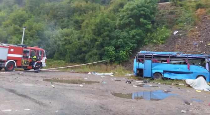 Жители на 4 села се събраха в подкрепа на обвинения за автобусната катастрофа край Своге шофьор