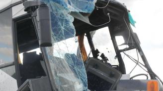 Автобус катастрофира на пътя Банско - Гоце Делчев, има ранени