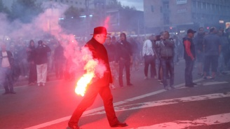Има ранени след сблъсъците в Кемниц (обновена+галерия+видео)
