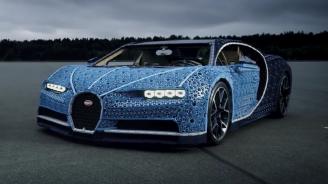 LEGO построи пълномащабно копие на болида Bugatti Chiron (видео)
