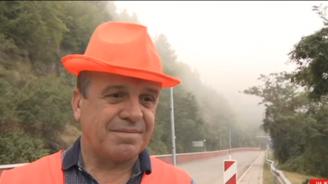 Преди полагането на асфалта на трагичната отсечка край Своге: Ще се вземат проби за качество веднага (видео)