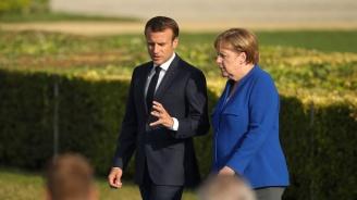 Макрон посрещна Меркел в двореца Фаро в Марсилия